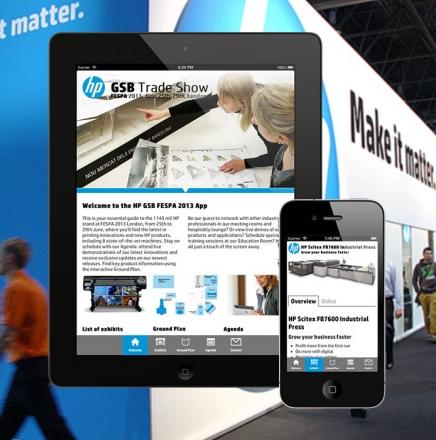 09 Hewlett Packard GSB, FESPA 2013 Event App