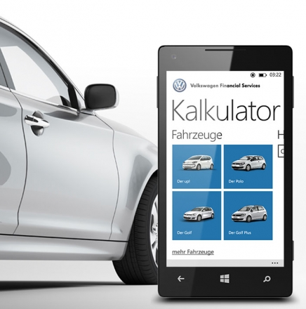 05 Volkswagen Financial Services AG, Kalkulator-App